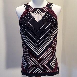 Tahari 100% silk blouse, cut in shoulders